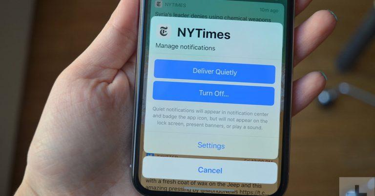 Pantalla con la actualización de iOS 12