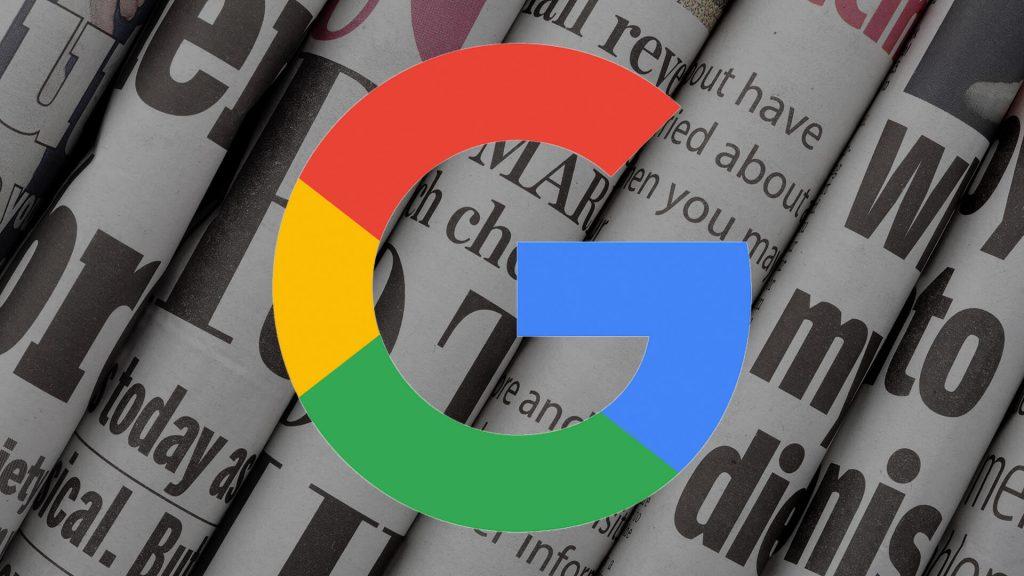 Logo de google sobre periódicos