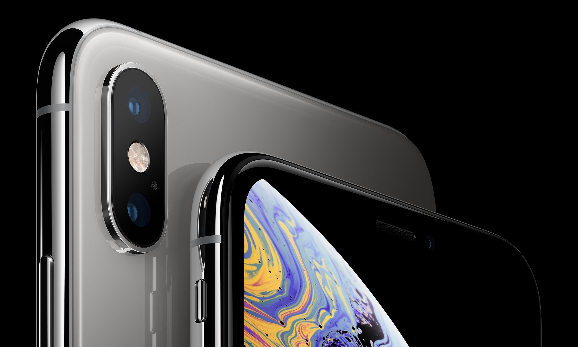 Parte superior de iPhone XS color negro
