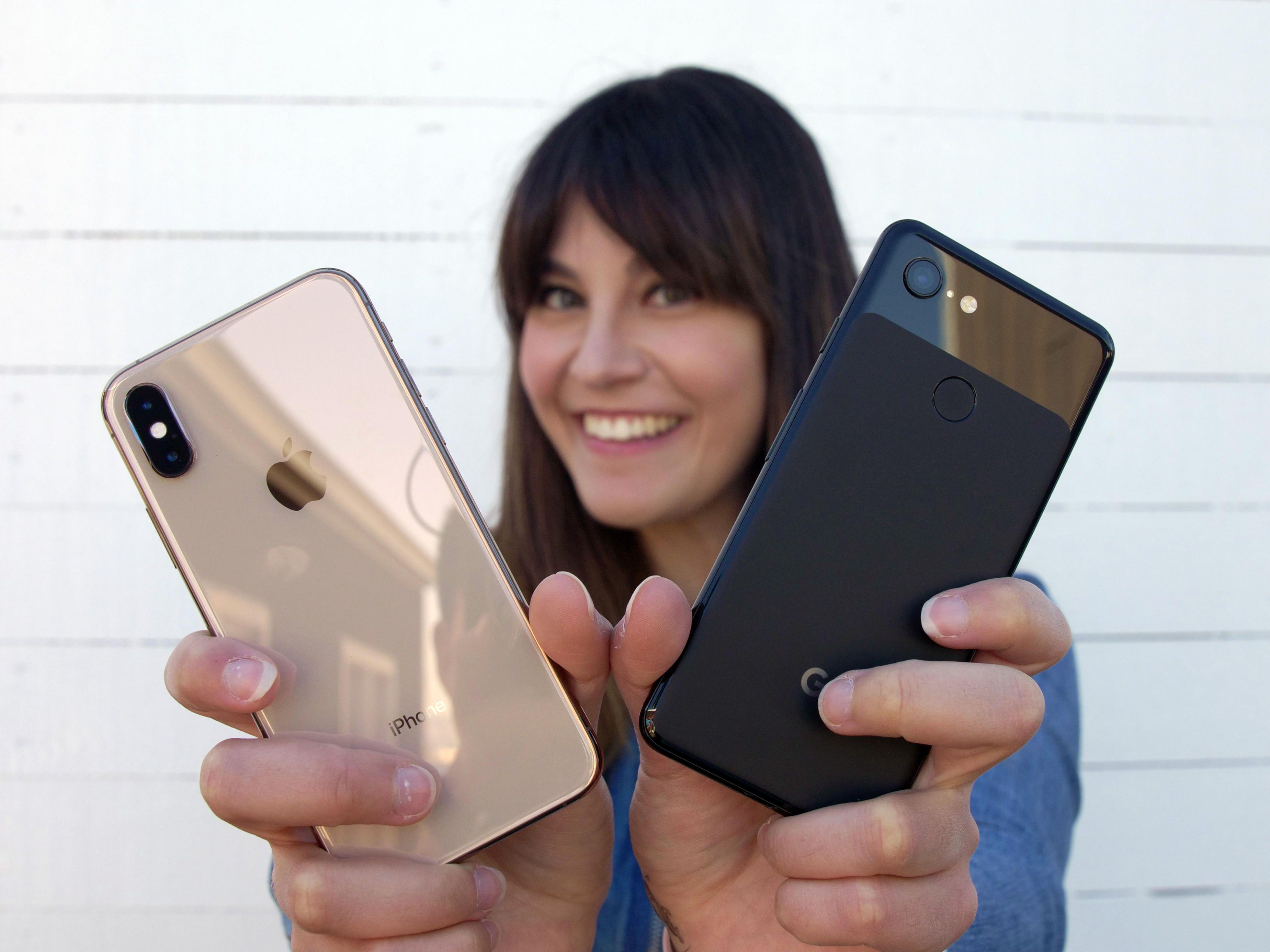Cámara de iPhone y de Pixel 3