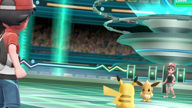 El juego de NIntendo, Pokemon muestra una simulación del videojuego
