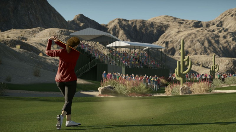 Simulación de The Golf Club 2019 con una jugadora