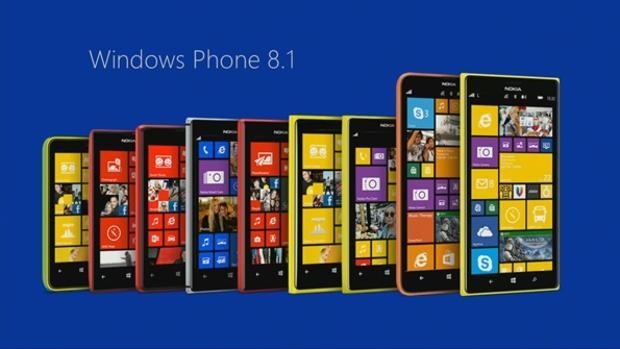 celulares de Windows formados por tamaños y colores